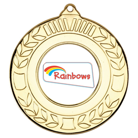 Rainbows Gold Laurel 50mm Medal