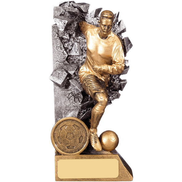 BREAKOUT MALE FOOTBALL PLAYER TROPHY 15cm