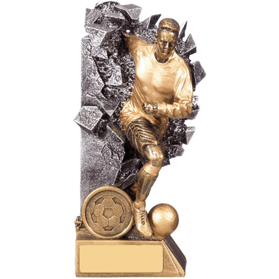 Breakout Male Football Player Trophy 16cm