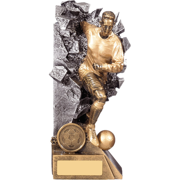 Breakout Male Football Player Trophy 19cm