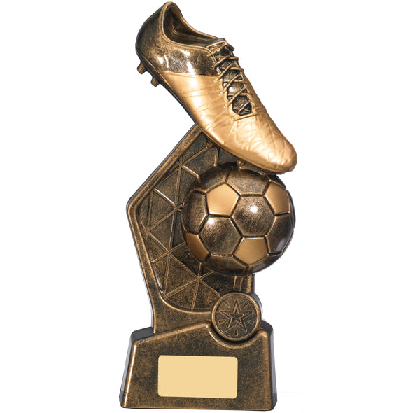 HEX FOOTBALL TROPHY 25cm