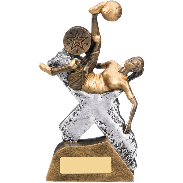 Extreme Female Football Trophy 17.5cm