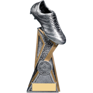 Storm Football Boot Trophy (Silver) 19cm