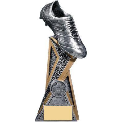 Storm Football Boot Trophy (Silver) 21cm