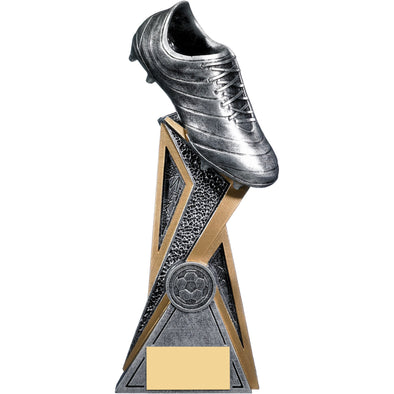 Storm Football Boot Trophy (Silver) 24cm