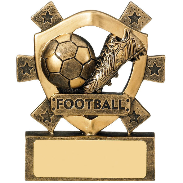 Football Mini Shield 8cm Trophy