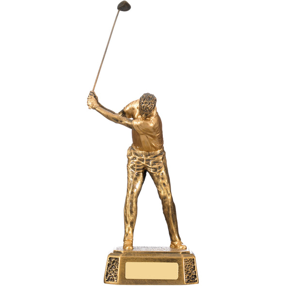 Male Golfer Back Swing 18cm Trophy