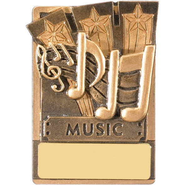 Engraved Fridge Magnet Music Award 8cm