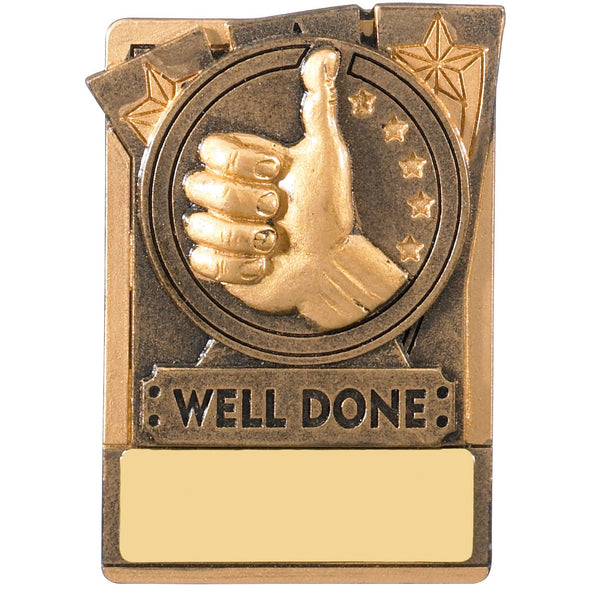 Engraved Fridge Magnet Well Done Award 8cm