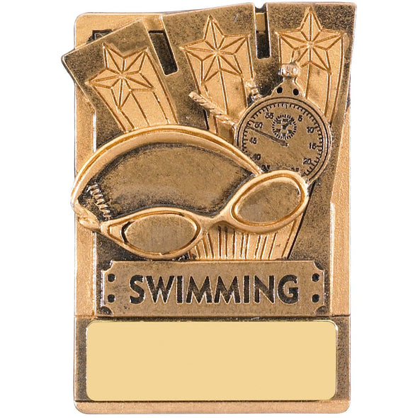 Engraved Fridge Magnet Swimming Award 8cm