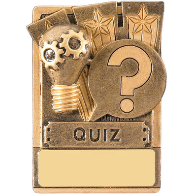 Engraved Fridge Magnet Quiz Award 8cm