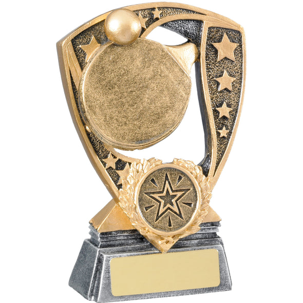 Table Tennis Award 12cm - Gold Resin Trophy