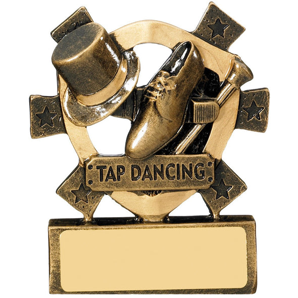 Tap Dancing Mini Shield Trophy 8cm