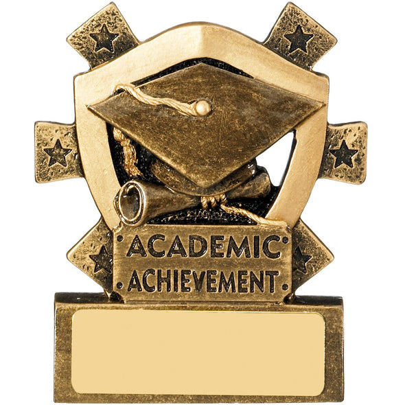 Academic Achievement Mini Shield Trophy 8cm