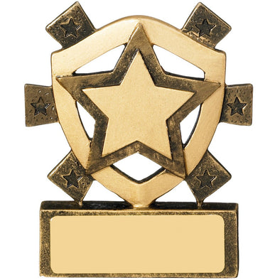 Star Mini Shield Trophy 8cm
