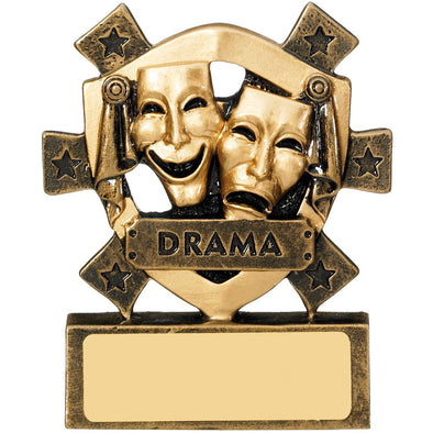 Drama Mini Shield Trophy 8cm