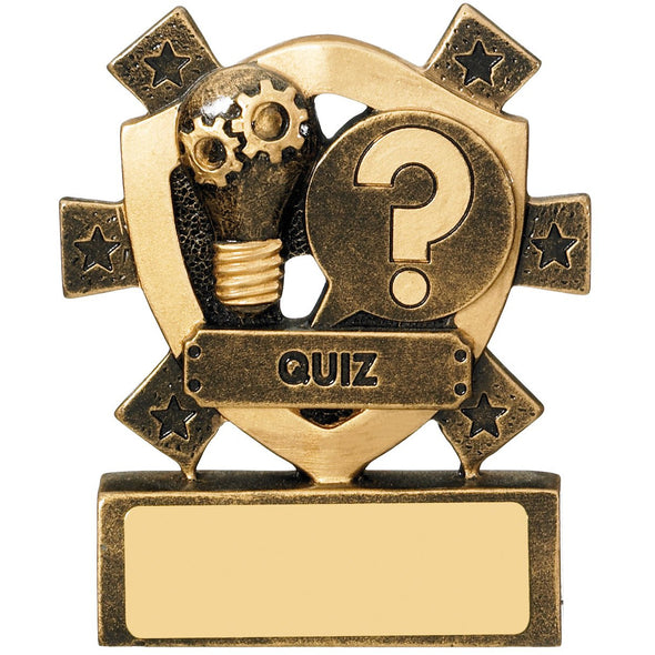 Quiz Mini Shield Trophy 8cm