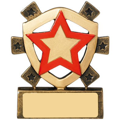 Red Star Mini Shield Trophy 8cm