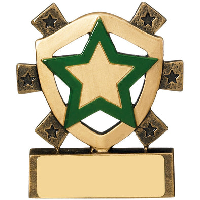 Green Star Mini Shield Trophy 8cm