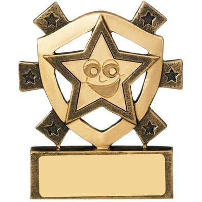 Smiley Star Mini Shield Trophy 8cm