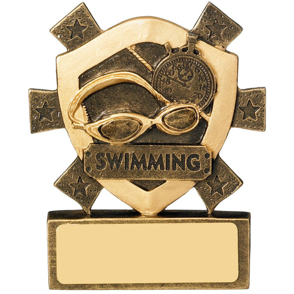 Swimming Mini Shield Trophy 8cm