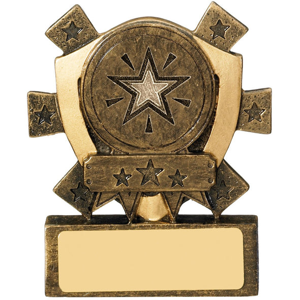 Mini Shield Trophy Centre Holder 8cm