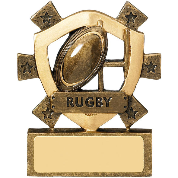 Rugby Mini Shield 8cm