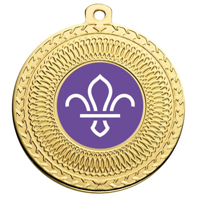 Scouts Gold Swirl 50mm Medal