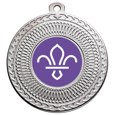 Scouts Silver Swirl 50mm Medal
