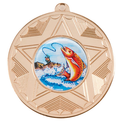 Sea Fishing Gold Star 50mm Medal