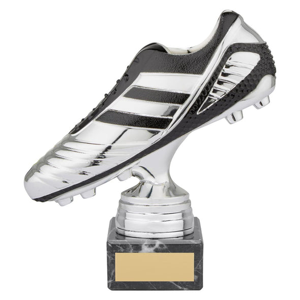 World Striker Premium Football Boot Award Silver & Black 160mm