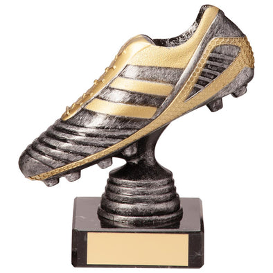 World Striker Legend Football Boot Silver & Gold 125mm