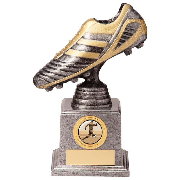 World Striker Legend Football Boot Silver & Gold 175mm