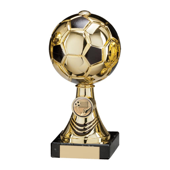 Sienna Football Gold & Black Trophy 200mm