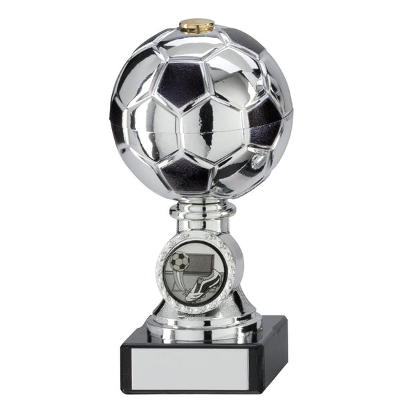 Milano Football Silver & Black Trophy 140mm