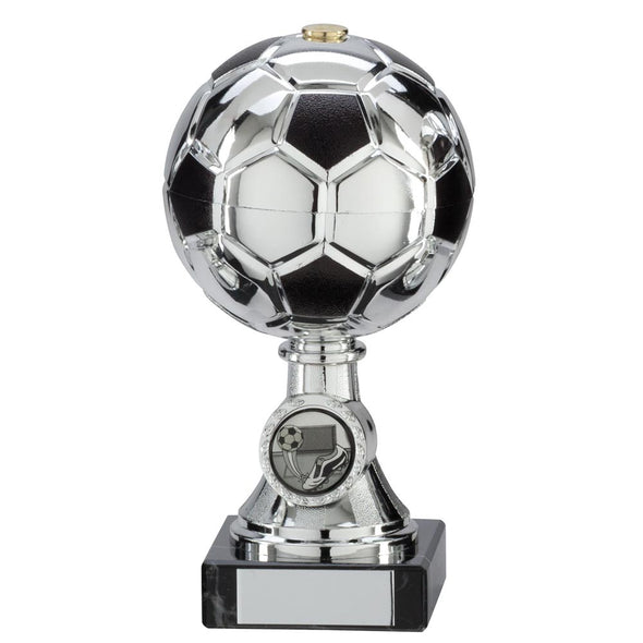 Milano Football Silver & Black Trophy 160mm