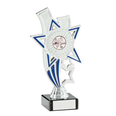 Apollo Silver & Blue Multi-Sport Trophy 185mm