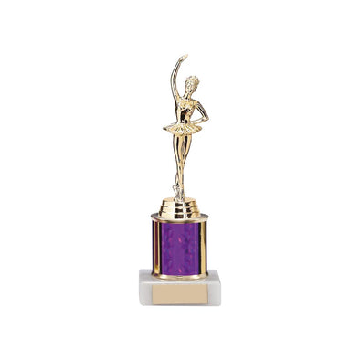 Instinct Purple & Gold Tube Base Award 70mm