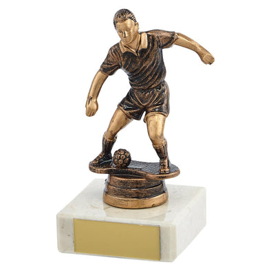 Dominion Football Trophy Antique Bronze & Gold 115mm