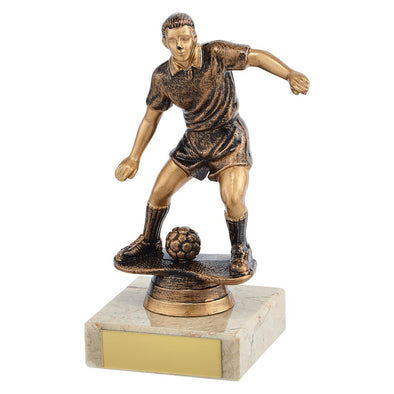 Dominion Football Trophy Antique Bronze & Gold 140mm