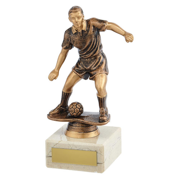 Dominion Football Trophy Antique Bronze & Gold 170mm