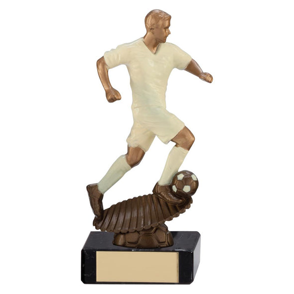 Spirit Storm Football Trophy Cream 140mm