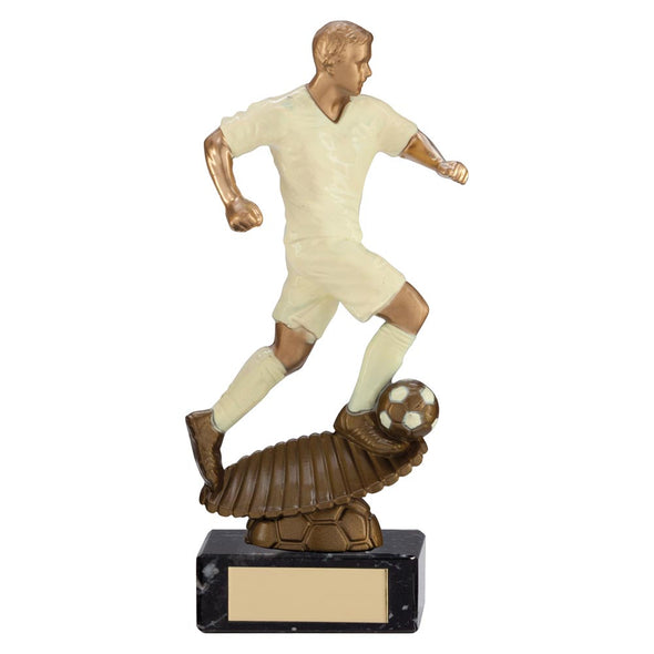 Spirit Storm Football Trophy Cream 215mm