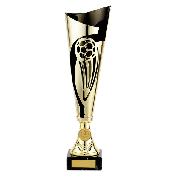 Champions Football Cup Gold & Black 340mm