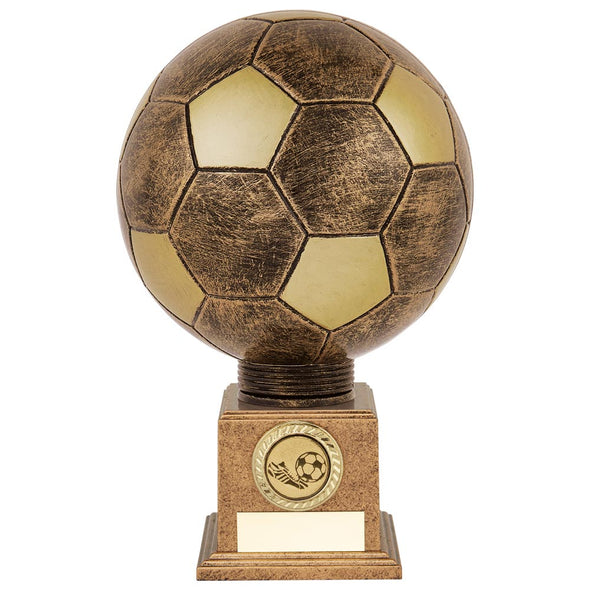 Planet Football Legend Rapid 2 Trophy Antique Bronze & Gold 225mm
