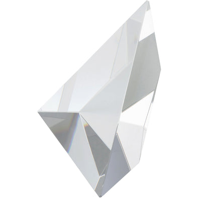 Optical Crystal Triangle - 5.25in H