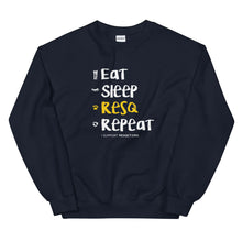 Load image into Gallery viewer, Eat Sleep RESQ Repeat Sweatshirt