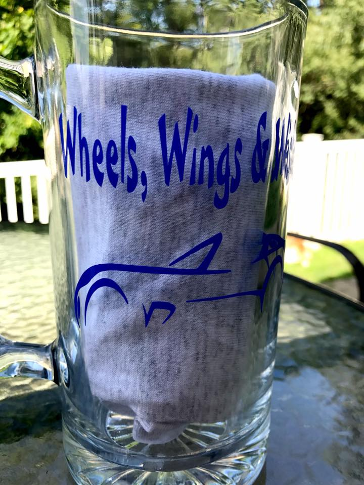 Wheels, Wings & Wishes Beer Mug