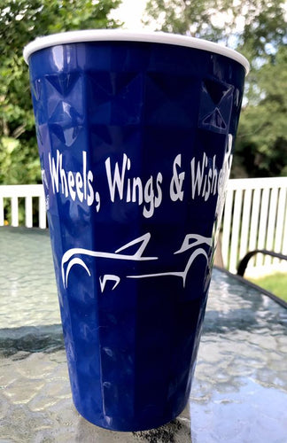 Wheels, Wings & Wishes Blue Solo Cups
