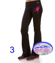 Load image into Gallery viewer, ***CLEARANCE*** Girls Soffee Yoga Pants Your Choice of Dancer